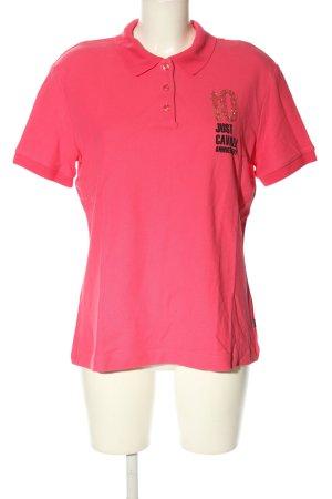 Just cavalli Polo-Shirt rot Schriftzug gedruckt Casual-Look