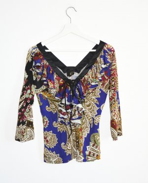 Just cavalli Top de volantes multicolor Viscosa