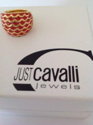 JUST CAVALLI Ring Gold/Rot Größe 60 mit BOX