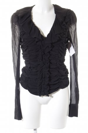 Just cavalli Rüschen-Bluse schwarz Elegant