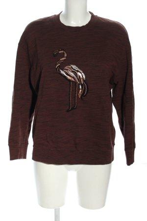 Just cavalli Sweter z okrągłym dekoltem brązowy Melanżowy W stylu casual