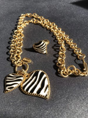 Just Cavalli Schmuck Set Kette + Ring Gold Zebra