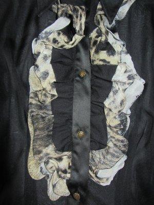 Just cavalli Blouse à manches longues noir soie