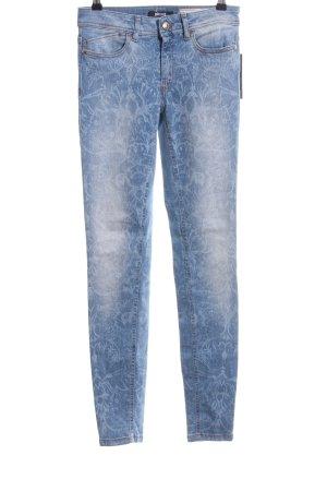 Just cavalli Jeans skinny bleu motif abstrait style décontracté