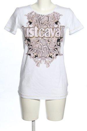 Just cavalli T-shirt Nadruk z motywem W stylu casual