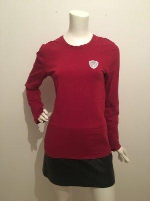 Just cavalli underwear Roberto rot Shirt Oberteil top Sweatshirt langarm long bequem Baumwolle elastase brustemblem