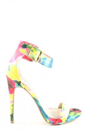 Just Fab High Heel Sandaletten abstraktes Muster Casual-Look