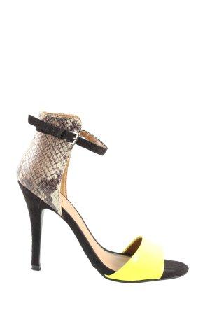 Just Fab High Heel Sandaletten Allover-Druck Casual-Look