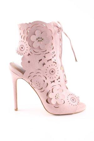 Just Fab High Heels pink Blumenmuster Elegant