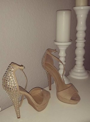 Just Fab JustFab High Heels Pumps nude Strass 38 blogger hipster boho