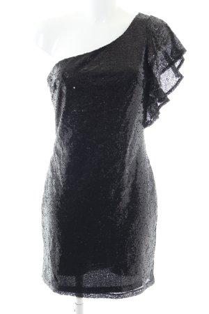 Just Fab One-Shoulder-Kleid schwarz Elegant