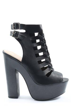 Just Fab Platform High-Heeled Sandal black elegant