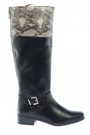 Just Fab Schaftstiefel Animalmuster Casual-Look