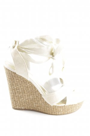 Just Fab Wedges Sandaletten weiß-bronzefarben Casual-Look