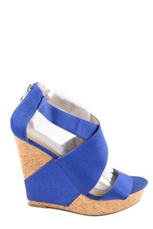 Just Fab Wedges Sandaletten blau Casual-Look