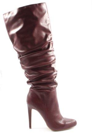 JUST FABULOUS Wysokie buty na obcasie czerwony Elegancki