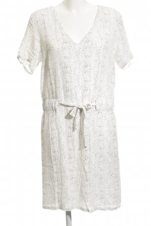 Just Female A-Linien Kleid schwarz-wollweiß Farbtupfermuster Casual-Look