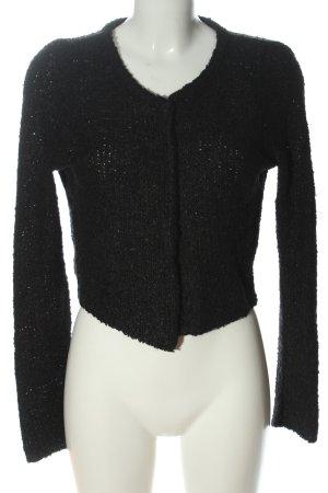 Just Female Giacca in maglia nero stile casual
