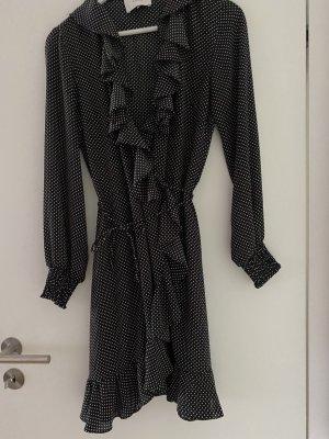 Just female Kleid gepunktet schwarz weiß XS 34