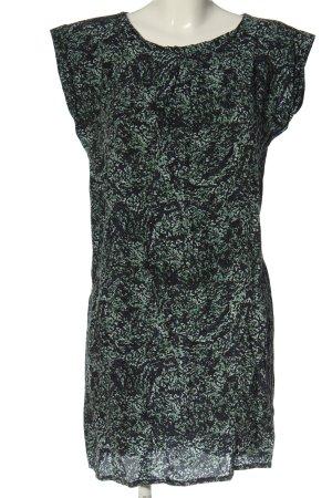 Just Female Kurzarmkleid blau-grün Allover-Druck Casual-Look