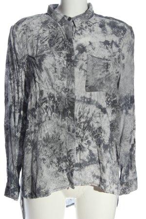 Just Female Camicia a maniche lunghe grigio chiaro motivo astratto stile casual