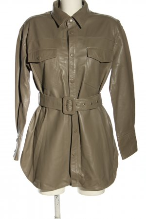 Just Female Leather Shirt brown casual look
