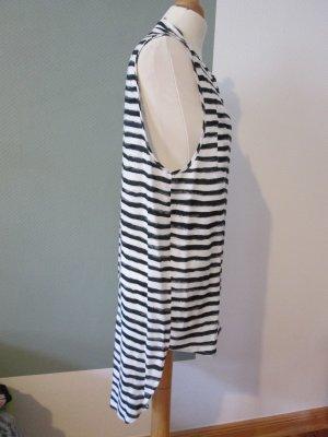 Just Female Longbluse Kleid Longshirt gestreift schwarz weiß grau Gr. xs