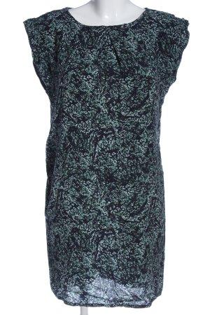 Just Female Minikleid blau-türkis abstraktes Muster klassischer Stil