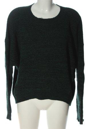Just Female Sweter oversize zielony W stylu casual