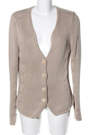 Just Female Strickjacke braun Zopfmuster Casual-Look