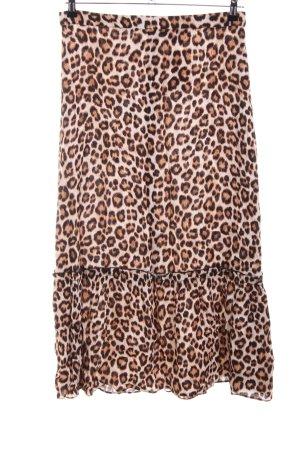 Just Female Jupe à volants motif léopard style décontracté