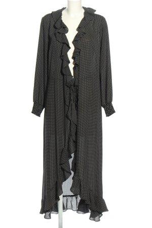 Just Female Wickelkleid schwarz-weiß Allover-Druck Casual-Look