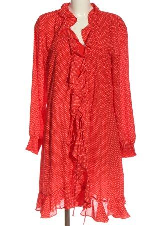 Just Female Chiffon jurk rood-wit volledige print casual uitstraling