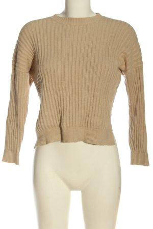 Just for you Sweter z grubej dzianiny nude Wzór w paski W stylu casual