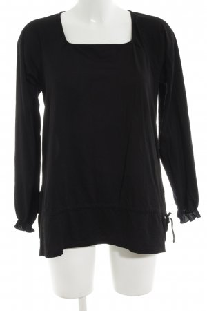 Just for you Langarm-Bluse schwarz Casual-Look