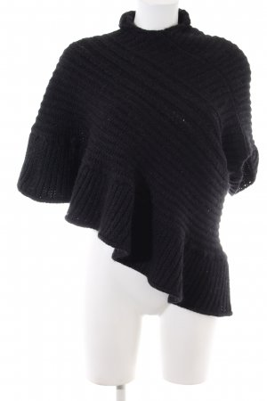 Just for you Strickponcho schwarz Casual-Look