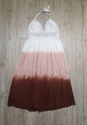 Just from Bali Kleid Sommerkleid weiß rosa Bordeaux S/M