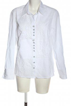 Just White Hemd-Bluse weiß Casual-Look