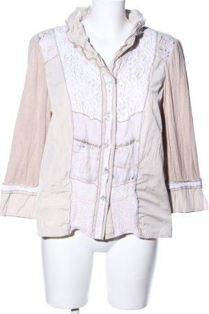 Just White Hemd-Bluse wollweiß-nude klassischer Stil