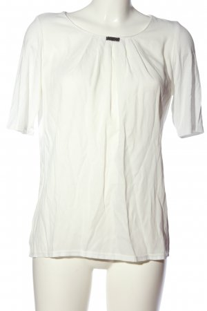 Just White Kurzarm-Bluse weiß Business-Look