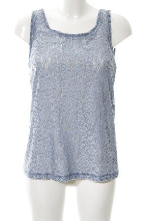 Just White Spitzentop blau Elegant