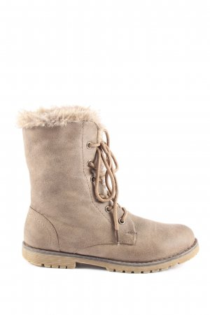 Just Woman Winter-Stiefeletten wollweiß Casual-Look