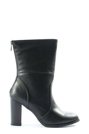 JustFab Absatz Stiefel schwarz Elegant