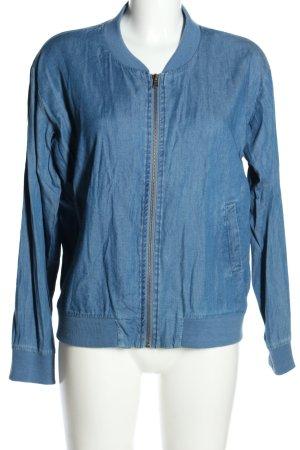 JustFab Blouson blue casual look mixture fibre