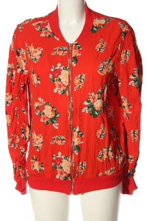 JustFab Bomber Jacket red-light orange allover print casual look