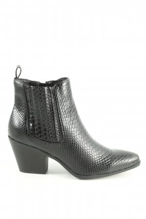 JustFab Stivaletto nero motivo animale stile professionale
