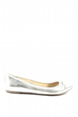 JustFab Bailarinas plegables color plata elegante
