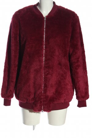JustFab Fake Fur Jacket red casual look