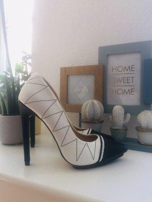 JustFab Gwen Stefanie Pumps High Heels schwarz weiß