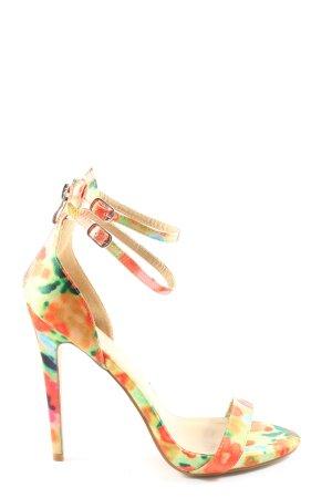 JustFab High Heel Sandaletten Allover-Druck Elegant